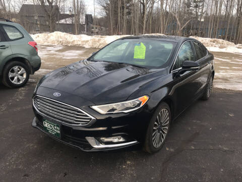 2017 Ford Fusion for sale at Greg's Auto Sales in Searsport ME