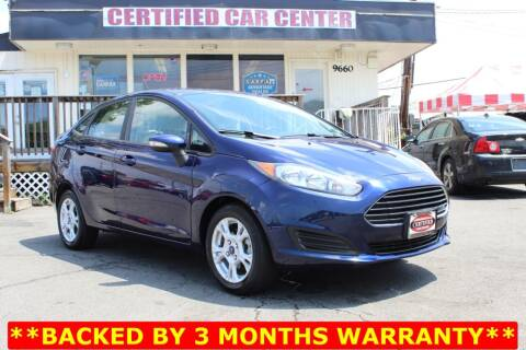 2016 Ford Fiesta for sale at CERTIFIED CAR CENTER in Fairfax VA