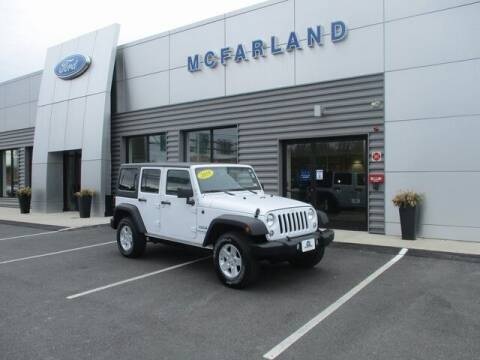 2018 Jeep Wrangler JK Unlimited for sale at MC FARLAND FORD in Exeter NH