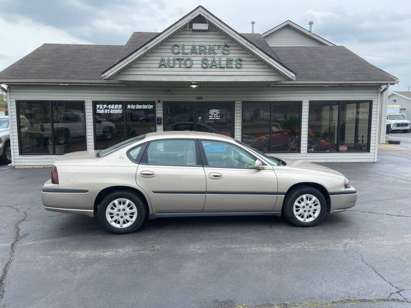 2001 Chevrolet Impala for sale at Clarks Auto Sales in Middletown OH