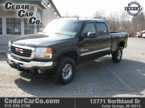 2005 GMC Sierra 2500HD for sale at Cedar Car Co in Cedar Springs MI