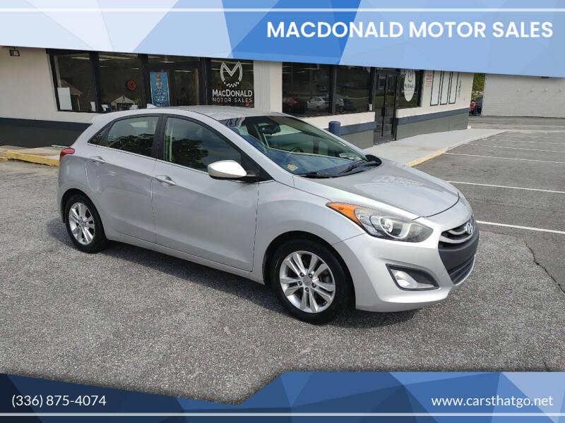 2013 Hyundai Elantra GT for sale at MacDonald Motor Sales in High Point NC