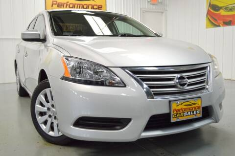 2015 Nissan Sentra for sale at Performance car sales in Joliet IL