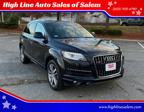 2015 Audi Q7 for sale at High Line Auto Sales of Salem in Salem NH