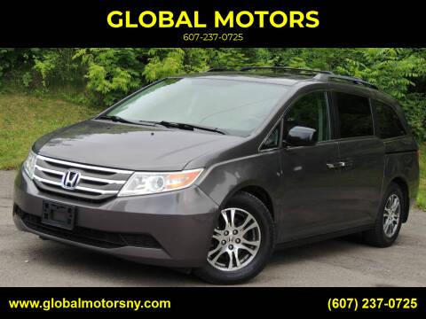 2013 Honda Odyssey for sale at GLOBAL MOTORS in Binghamton NY