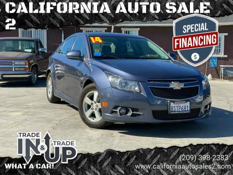 2014 Chevrolet Cruze for sale at CALIFORNIA AUTO SALE 2 in Livingston CA