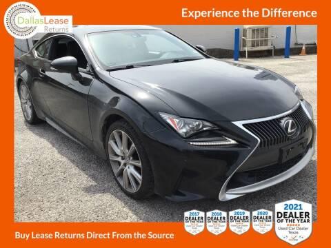 2015 Lexus RC 350 for sale at Dallas Auto Finance in Dallas TX
