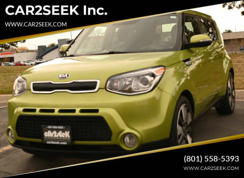 2014 Kia Soul for sale at CAR2SEEK Inc. in Salt Lake City UT