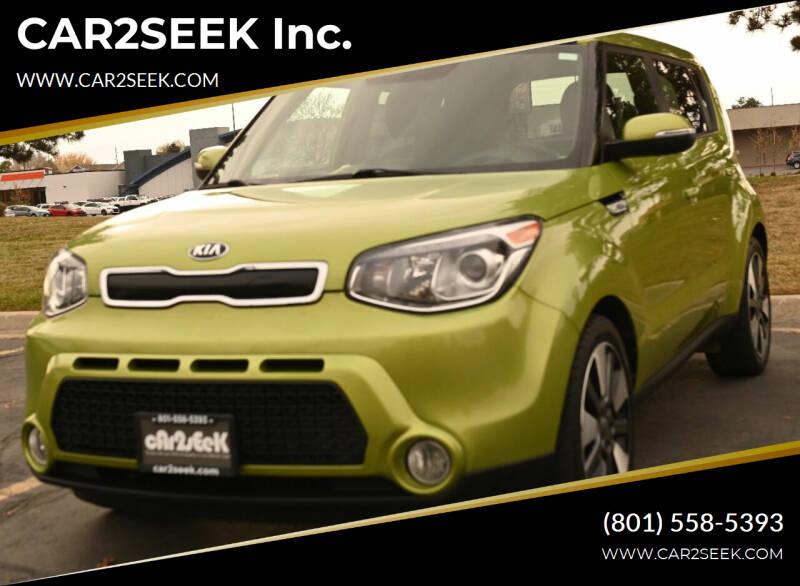 2014 Kia Soul for sale at CAR2SEEK Inc. in Salt Lake City UT