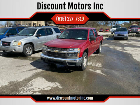 2005 Chevrolet Colorado for sale at Discount Motors Inc in Nashville TN