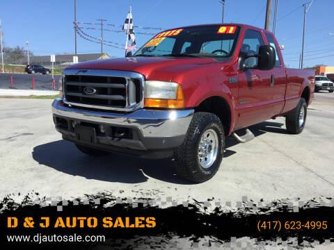 2001 Ford F-250 Super Duty for sale at D & J AUTO SALES in Joplin MO