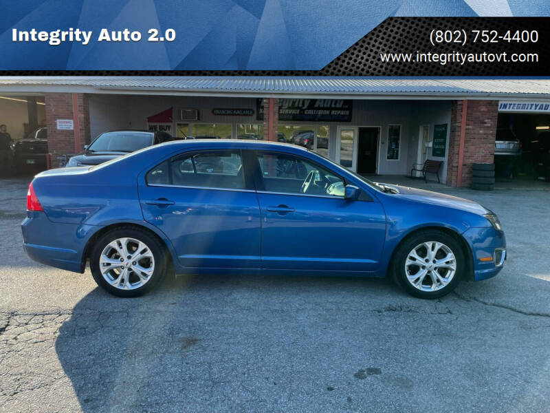 2012 Ford Fusion for sale at Integrity Auto 2.0 in Saint Albans VT