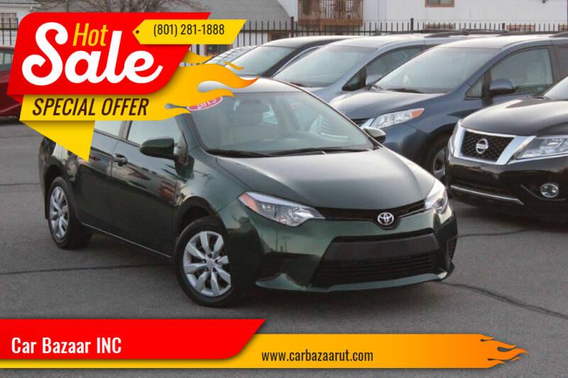2016 Toyota Corolla for sale at Car Bazaar INC in Salt Lake City UT