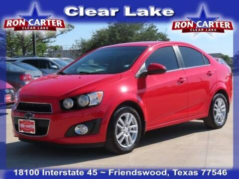 2014 Chevrolet Sonic for sale at Ron Carter  Clear Lake Used Cars in Houston TX