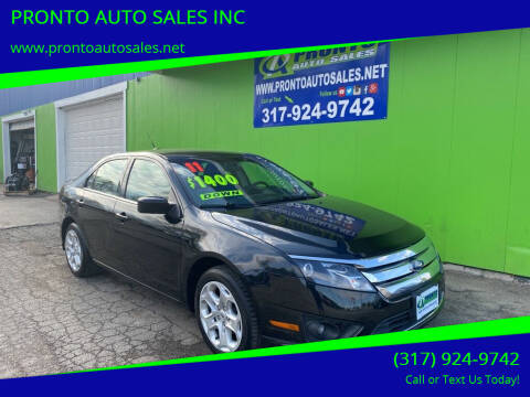 2011 Ford Fusion for sale at PRONTO AUTO SALES INC in Indianapolis IN
