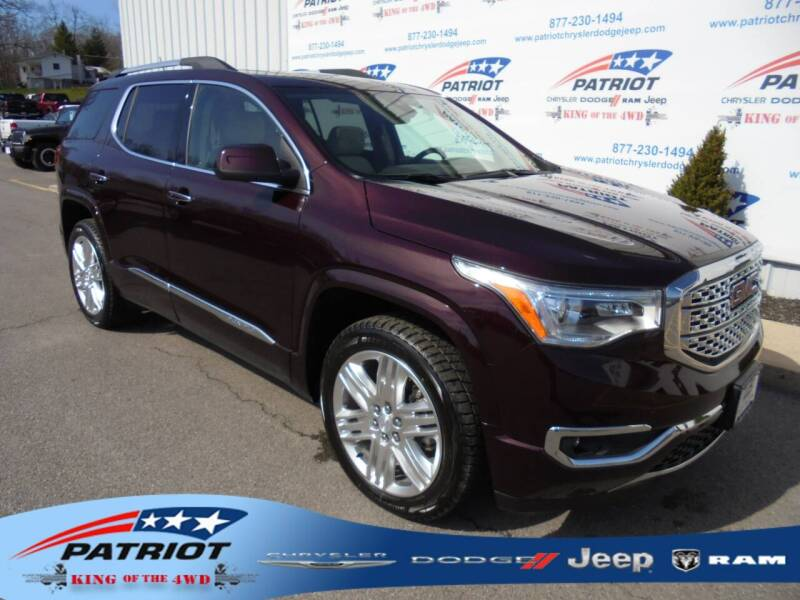2018 GMC Acadia for sale at PATRIOT CHRYSLER DODGE JEEP RAM in Oakland MD