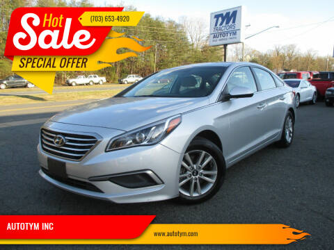 2016 Hyundai Sonata for sale at AUTOTYM INC in Fredericksburg VA