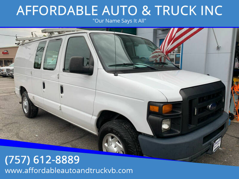 2012 Ford E-Series Cargo for sale at AFFORDABLE AUTO & TRUCK INC in Virginia Beach VA