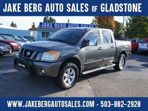 2011 Nissan Titan for sale at Jake Berg Auto Sales in Gladstone OR