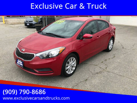2014 Kia Forte for sale at Exclusive Car & Truck in Yucaipa CA