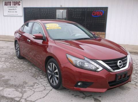 2016 Nissan Altima for sale at AUTO TOPIC in Gainesville TX