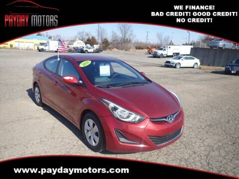 2016 Hyundai Elantra for sale at Payday Motors in Wichita And Topeka KS