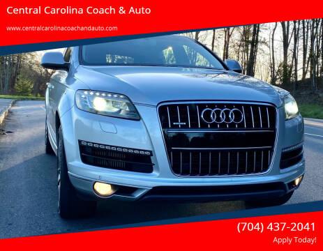 2012 Audi Q7 for sale at Central Carolina Coach & Auto in Lenoir NC