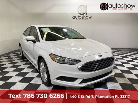 2018 Ford Fusion Hybrid for sale at AUTOSHOW SALES & SERVICE in Plantation FL