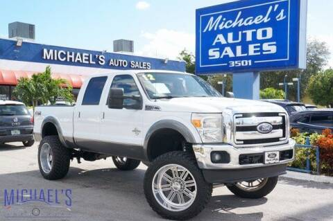 2012 Ford F-250 Super Duty for sale at Michael's Auto Sales Corp in Hollywood FL
