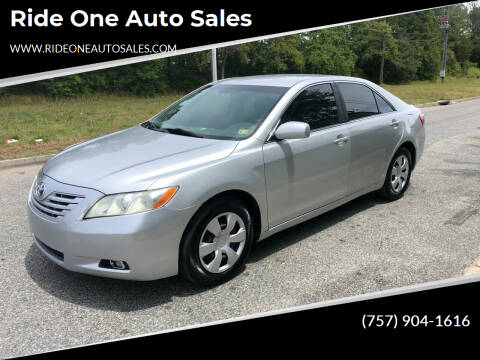 2007 Toyota Camry for sale at Ride One Auto Sales in Norfolk VA
