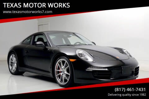 2014 Porsche 911 for sale at TEXAS MOTOR WORKS in Arlington TX