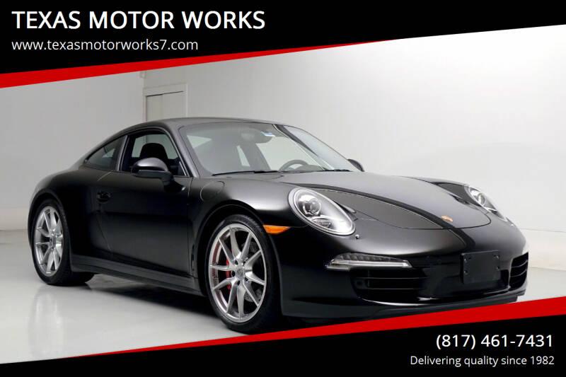 2014 Porsche 911 for sale at TEXAS MOTOR WORKS in Arlington TX