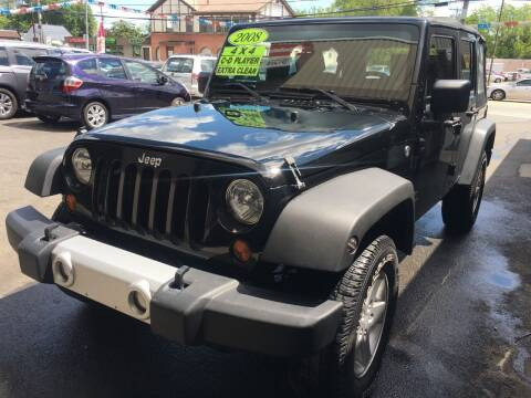 2008 Jeep Wrangler Unlimited for sale at Dijie Auto Sale and Service Co. in Johnston RI