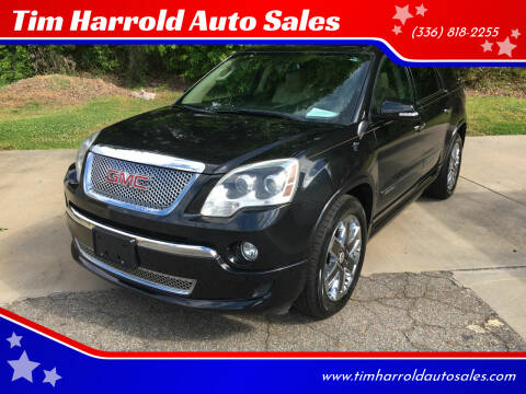 2012 GMC Acadia for sale at Tim Harrold Auto Sales in Wilkesboro NC