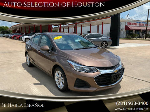2019 Chevrolet Cruze for sale at Auto Selection of Houston in Houston TX