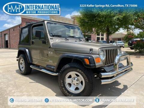 2002 Jeep Wrangler for sale at International Motor Productions in Carrollton TX