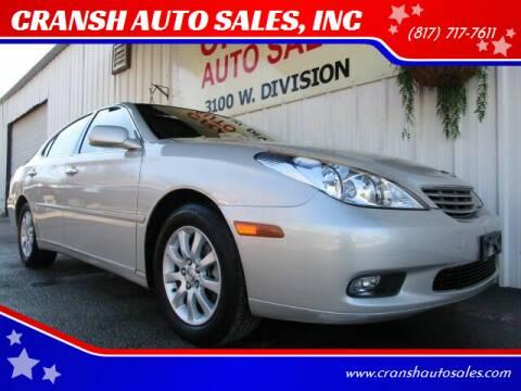 2004 Lexus ES 330 for sale at CRANSH AUTO SALES, INC in Arlington TX
