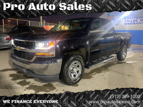 2016 Chevrolet Silverado 1500 for sale at Pro Auto Sales in Lincoln Park MI