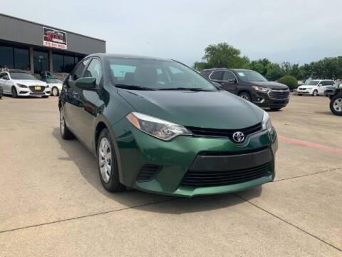 2014 Toyota Corolla for sale at KIAN MOTORS INC in Plano TX