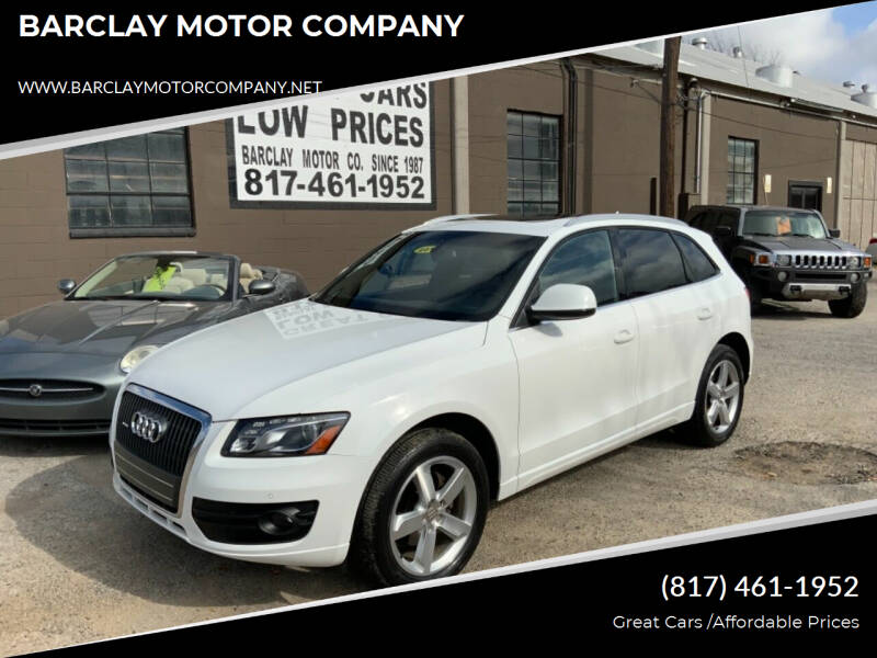 2012 Audi Q5 for sale at BARCLAY MOTOR COMPANY in Arlington TX