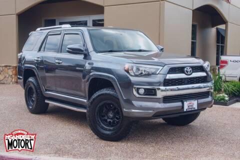 2017 Toyota 4Runner for sale at Mcandrew Motors in Arlington TX