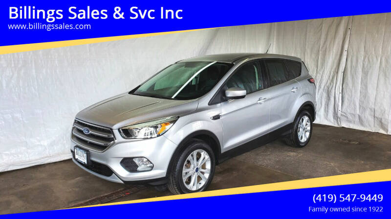 2017 Ford Escape for sale at Billings Sales & Svc Inc in Clyde OH