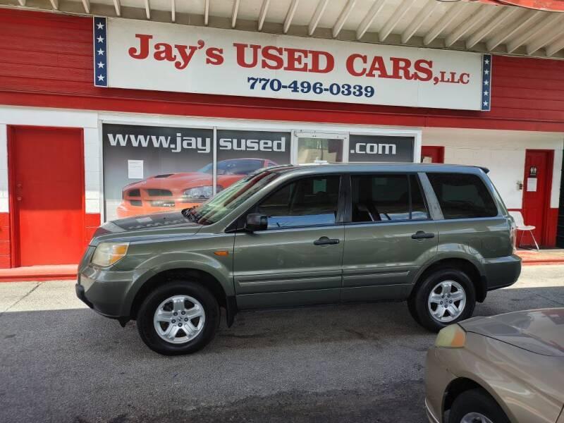 2007 Honda Pilot for sale at Jays Used Car LLC in Tucker GA