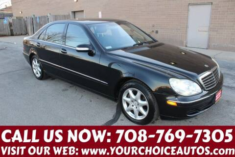 2003 Mercedes-Benz S-Class for sale at Your Choice Autos in Posen IL