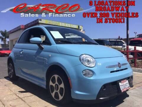 2017 FIAT 500e for sale at CARCO SALES & FINANCE #3 in Chula Vista CA