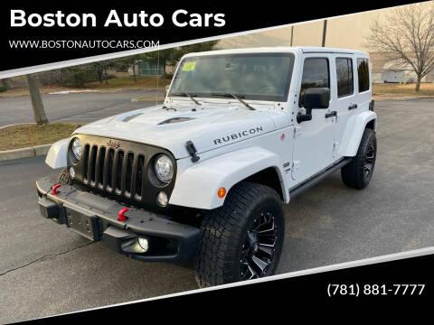 2018 Jeep Wrangler JK Unlimited for sale at Boston Auto Cars in Dedham MA