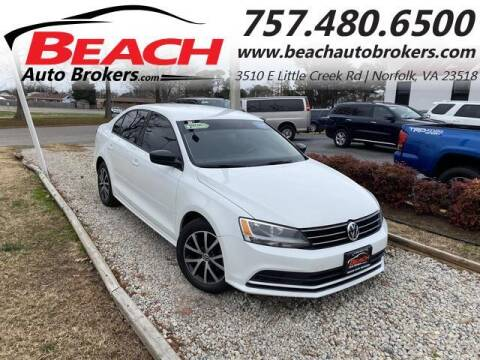 2015 Volkswagen Jetta for sale at Beach Auto Brokers in Norfolk VA