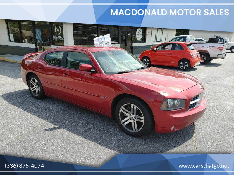 2006 Dodge Charger for sale at MacDonald Motor Sales in High Point NC