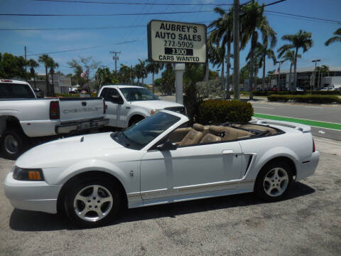2001 Ford Mustang for sale at Aubrey's Auto Sales in Delray Beach FL