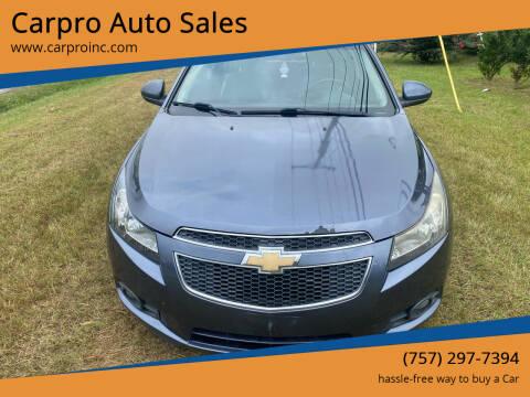 2013 Chevrolet Cruze for sale at Carpro Auto Sales in Chesapeake VA